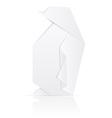 origami paper penguin vector image
