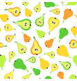 pear background painted pattern vector image vector image