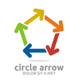 pentagon arrow colorful design symbol icon vector image
