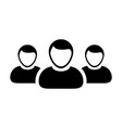 people icon group for male business team vector image