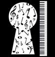 piano keyhole vector image vector image