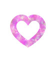 pink heart outline of dot vector image
