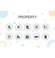 property trendy infographic template thin line vector image