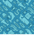 seamless pattern of marine creatures vector image vector image