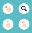 set of gesticulation icons flat style symbols with vector image