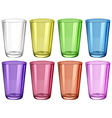 Set of glasses in different colors vector image vector image