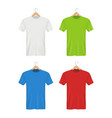 shirt on hanger colored blank clothes for adults vector image vector image