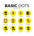 sim flat icons set vector image vector image
