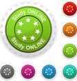 Study online award vector image vector image