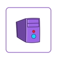 System unit of computer icon simple style vector image vector image