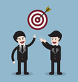 target with arrow and businessman team vector image