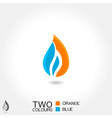 vector business emblem drop water flame icon blue vector image vector image