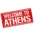 welcome to athens stamp vector image vector image