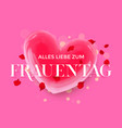women day german frauentag 3d heart greeting card vector image