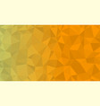 yellow triangular low poly mosaic abstract vector image