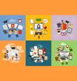 online education concept study flat design web vector image