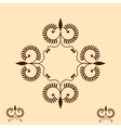 Vintage the frame with decorative elements will be vector image