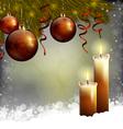 Xmas tree and candles vector image