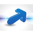 3d arrows icon vector image