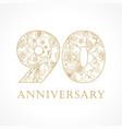 90 anniversary vintage logo vector image vector image