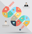Abstract business info graphics template with icon vector image vector image