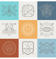adventures nautical and travel emblems and signs vector image vector image