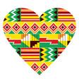 african heart design tribal kente nwentoma vector image
