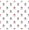 american star labor day pattern seamless vector image