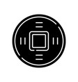 ancient chinese coins black glyph icon vector image vector image