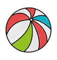 beach balloon isolated icon vector image vector image