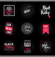 black friday sale banner design graphic element vector image vector image
