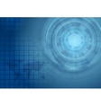 Bright blue technology background vector image