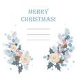 christmas background frame made fir vector image