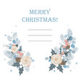 christmas background frame made of fir vector image vector image