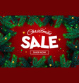 christmas sale banner xmas sparkling lights vector image