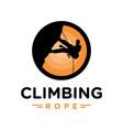 climber logo design vector image vector image