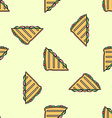 club sandwich colored seamless pattern vector image vector image