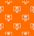 computer monitor with a skull and bones pattern vector image vector image