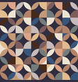 crafted seamless geometric patterns vector image vector image
