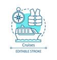 cruises concept icon travelling sea idea thin vector image vector image