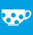cup icon white vector image