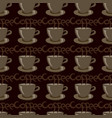 cup of coffee on brown vector image vector image
