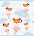 cute fox girl in the sky vector image vector image