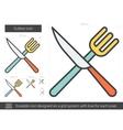 Cutlery line icon vector image vector image