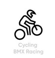 cycling bmx racing sport icons vector image vector image