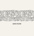 data filter banner concept vector image vector image