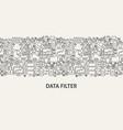 data filter banner concept vector image