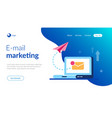 email marketing concept new close letter and vector image vector image