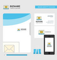 email on laptop business logo file cover visiting vector image vector image