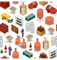 equipment and beer production background pattern vector image vector image